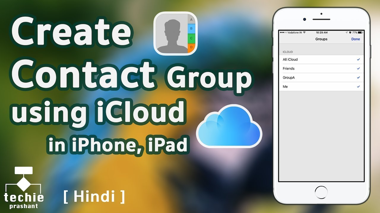 how to create groups on iphone how to create contact in iphone using icloud 4777