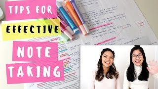 Tips for EFFECTIVE note-taking!   Back to school 2016