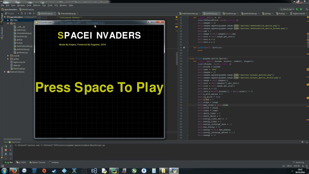 space invaders python