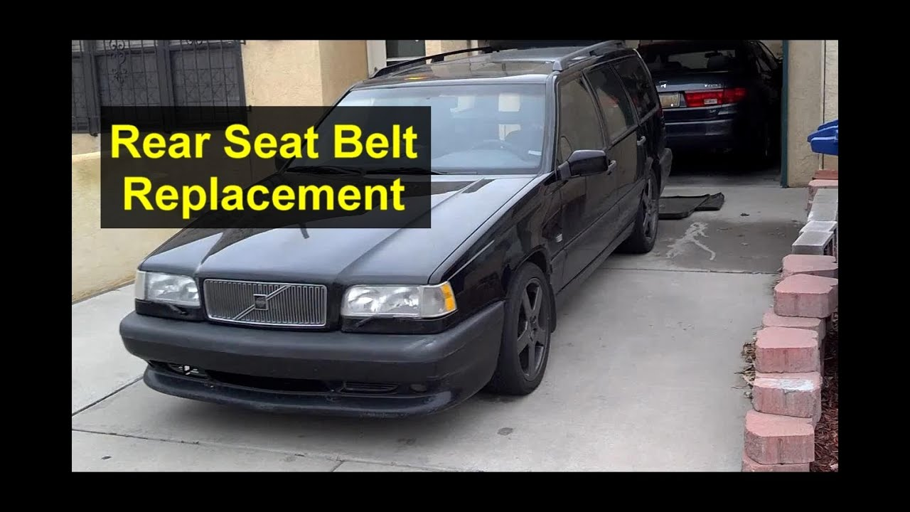 Rear seat belt removal / replacement, Volvo 850, V70, XC70, etc. - Auto Repair Series - YouTube