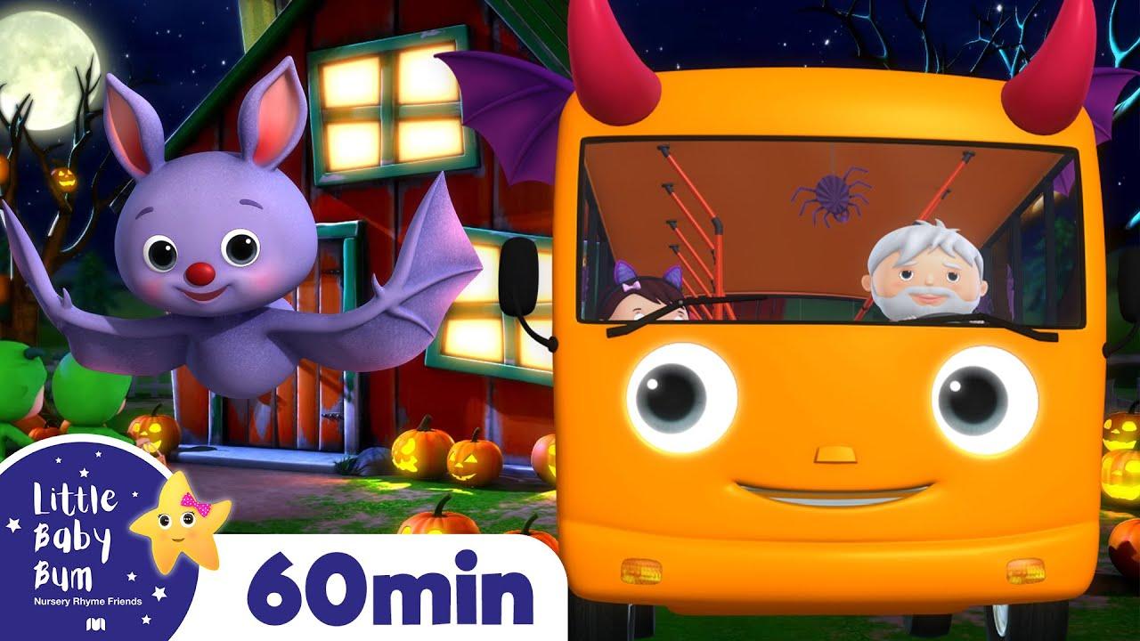Halloween Wheels On The Bus! + More Vehicle and Bus Songs | Kids Nursery Rhymes | Little Baby Bum