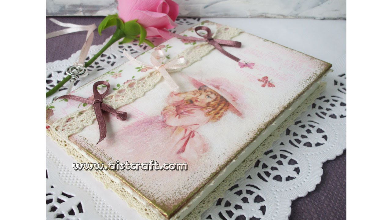 Decoupage Journal Cover Tutorial DIY Vintage Style