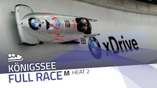 KÖnigssee | BMW IBSF World Cup 2016/2017 - 2-Man Bobsleigh Heat 2 | IBSF Official