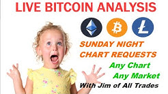 Live Bitcoin Analysis - Sunday Night Charts - BTC LTC ETH in depth TA plus chart requests.