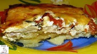 Рецепт запеканки из картофеля.Картофельная запеканка с рыбой