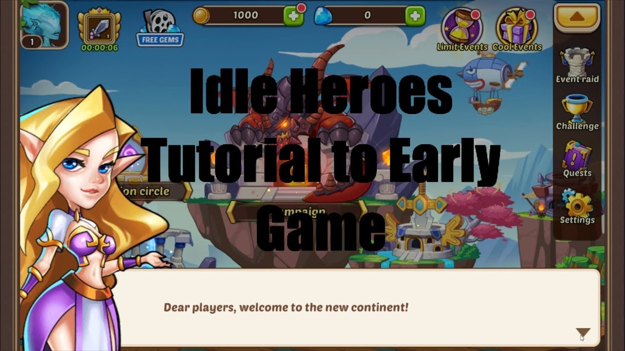 How to Quickly Advance in Idle Heroes - Tutorial to Early Game