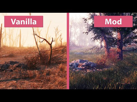 Fallout 4 – Revived Mod Pack vs. Vanilla Graphics Comparison