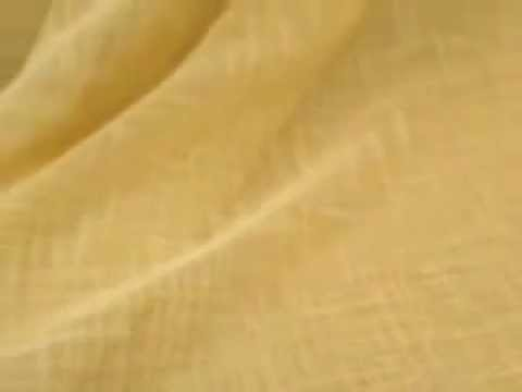 Burlap Weave Sheer Doublewide Drapery Fabric