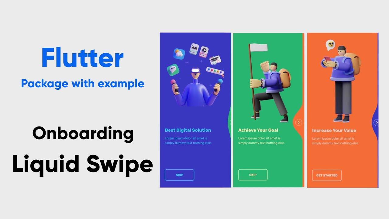 Flutter Onboarding Animation UI | Liquid Swipe package