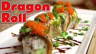 Dragon Roll Sushi with Tobiko - Grill Wasabi