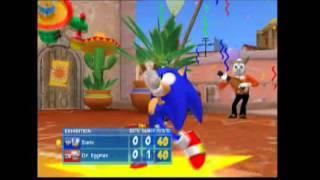 sega superstars tennis ps2 gameplay single match sonic vs dr eggman