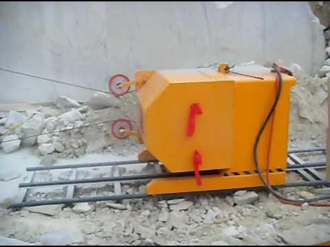 Quarry used marble granite diamond wire saw machine