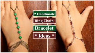 DIY Ring Chain Bracelet| nbeads.com | Handmade Jewellery Ideas| Beaded Bracelet Ideas | Creation&you
