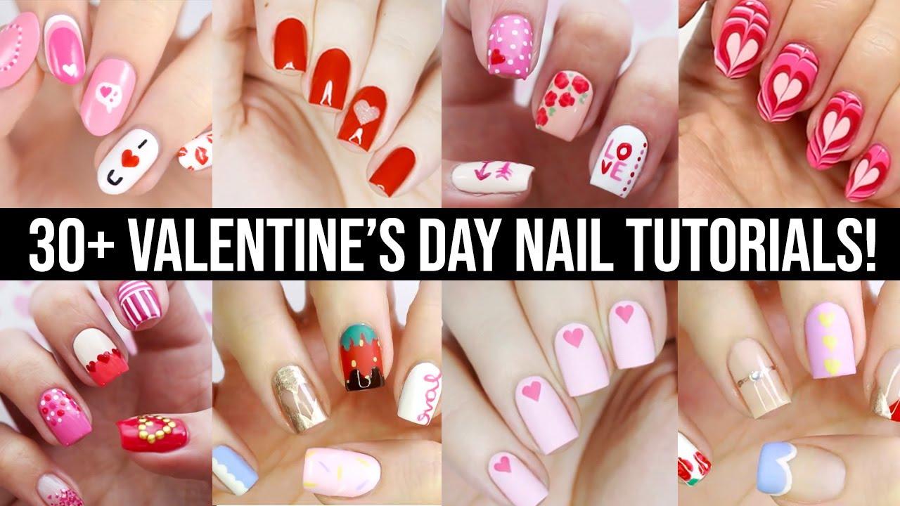Cute Nail Art 2020   Fun & Easy Valentine's Day Nail ...