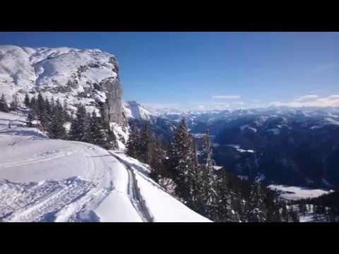 Steinplatte, Austria: View from the mountain top  (4K)