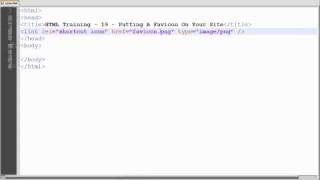 HTML Training - 19 - Putting A Favicon On Your Site Mp3