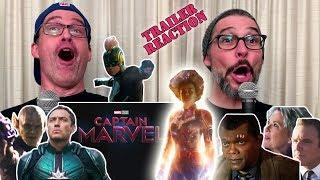Captain Marvel Trailer 2 Official Trailer REACTION!!!