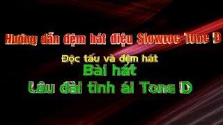 Hướng dẫn đệm hát điệu Slowrock Tone D-Độc tấu và đệm hát bài hát :Lâu đài tình á Tone D