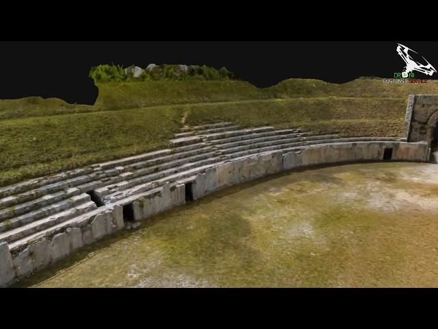 Anfiteatro Alba Fucens ricostruzione 3D animata