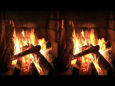 3D Original Fireplace Video in HD Quality - 60 Mins. Great Sound! VR Compatible.