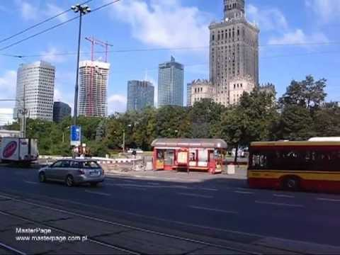Warsaw Poland - The Warsaw Centrum Seen From Al. Jerozolimsk