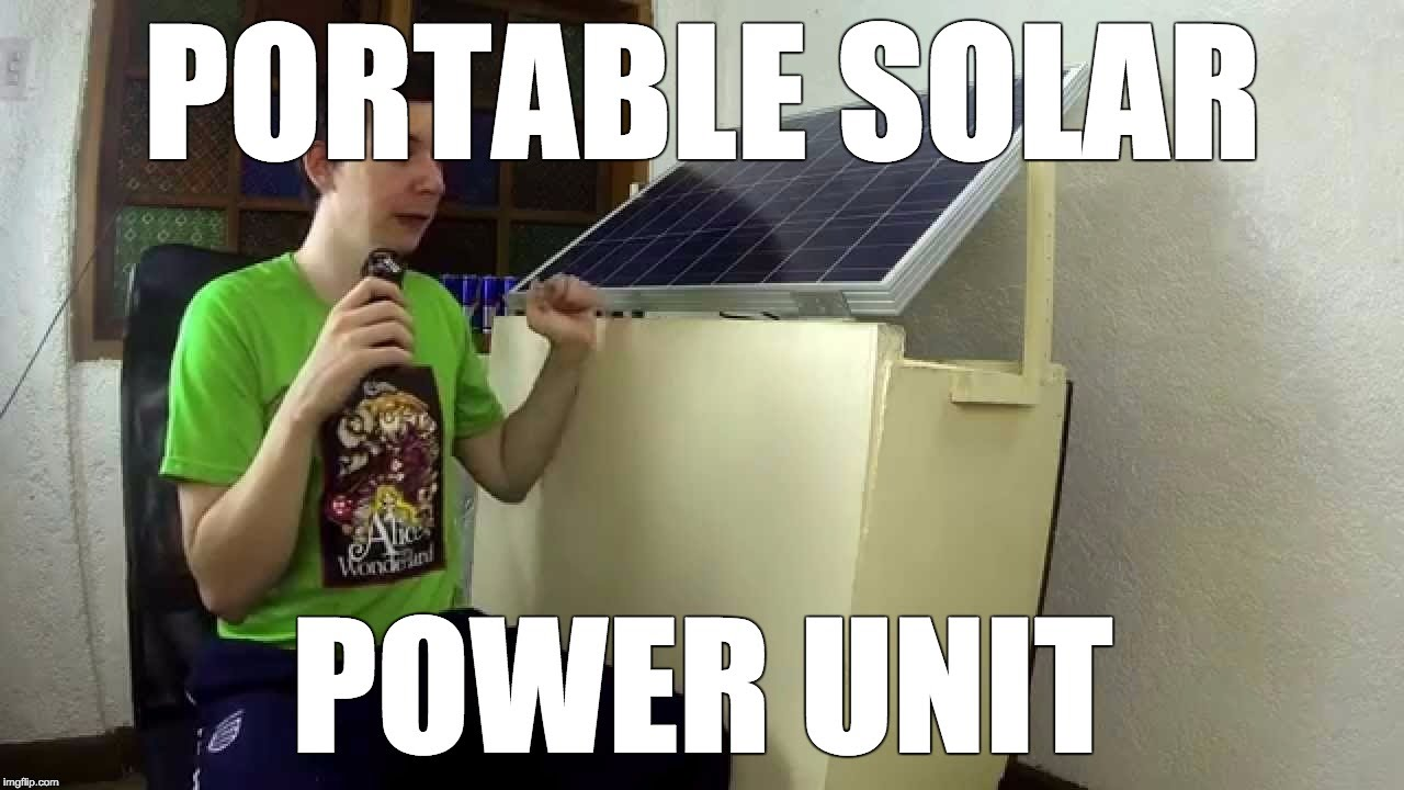 Portable Solar Power Unit Youtube