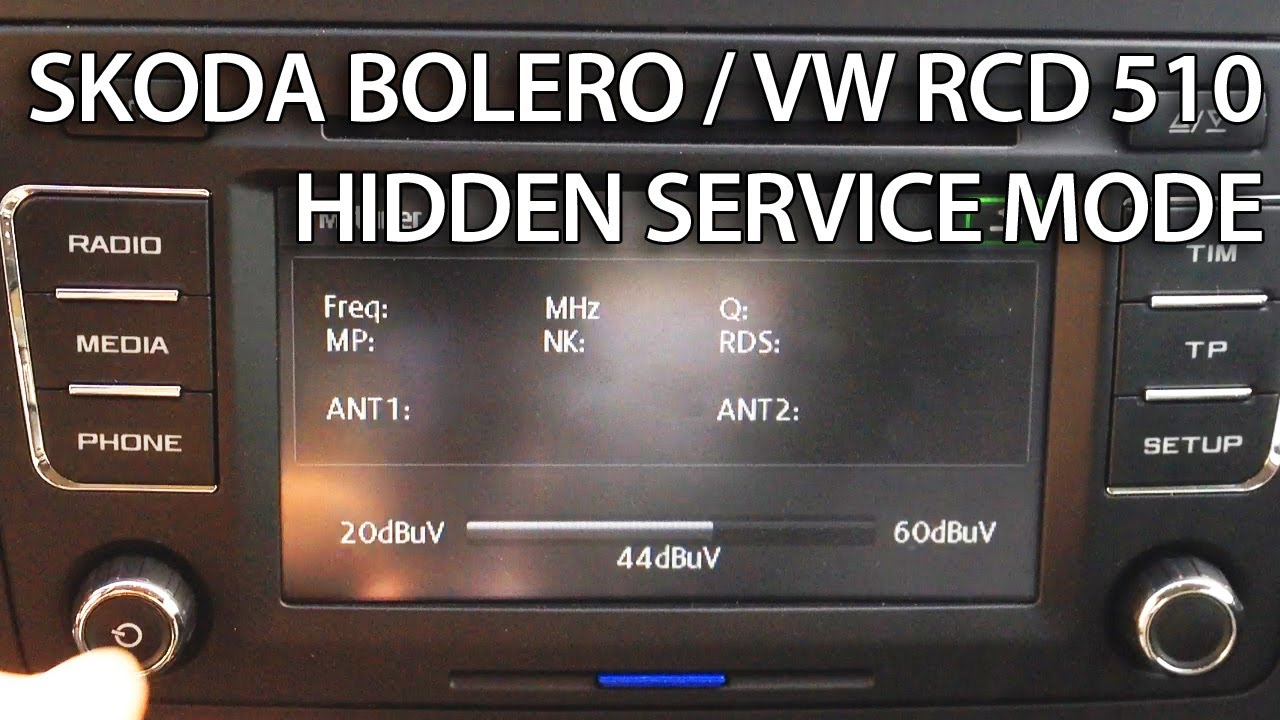 Manual Reset Wiring Diagram How To Enter Hidden Service Menu In Skoda Bolero Vw Rcd