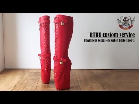 RTBU beginner ballet series-knee hi ballet boots with real lockable straps