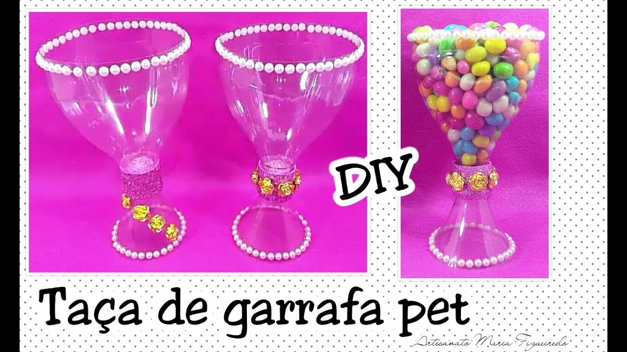 Armario Pequeno Para Banheiro ~ Taça feita com Garrafa Pet Reciclagem de GARRAFA PET