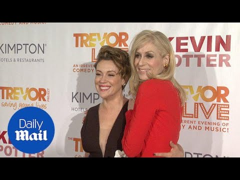 Alyssa Milano & Judith Light stun red carpet at TrevorLIVE in NYC - Daily Mail