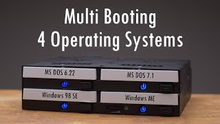 Multi Booting 4 Operating Systems with the ICY DOCK flexiDOCK MB524SP-B 5.25