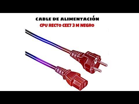 Video de Cable de alimentacion CPU recto CEE7 3 M Negro