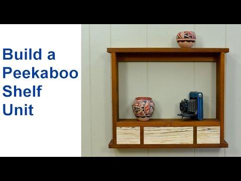 How to Make Wood Shelving - Peekaboo Style Wood Shelf