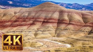 Written with the creator's invisible brush, famous painted hills in oregon attract thousands of tourists annually. welcome a new documentary film 4k (u...