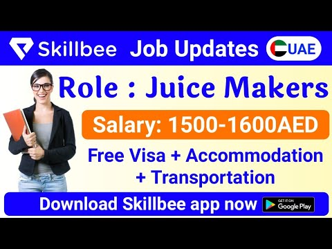 JOB IN UAE / Role: Juice Maker / Company: Easy Manpower Agency / Salary: AED1500-1600 / Exp:1-3Years