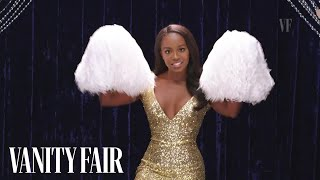 aja naomi king shows you how to be a cheerleader secret talent theatre vanity fair