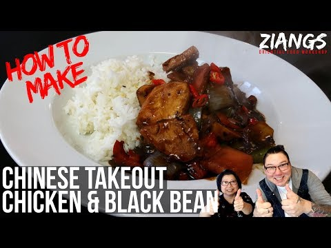 Ziangs: How To Make Chinese Takeout Chicken And Black Bean By Takeout Owners