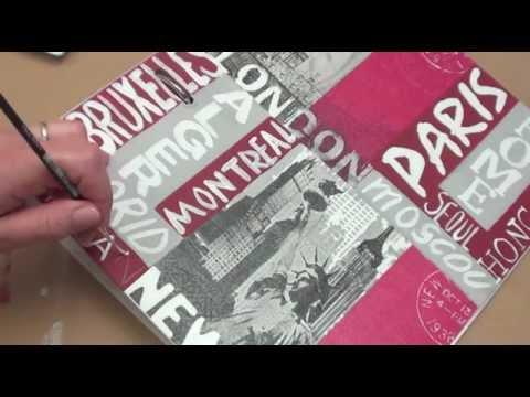 Serviettage customiser un classeur avec des serviettes en papier youtube - Comment customiser un classeur ...