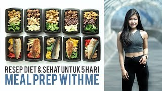 RESEP DIET UNTUK MEAL PREP SIMPLE & EASY | Meal Prep With Me