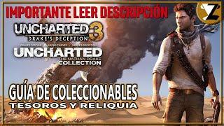 Uncharted 3: La Traición de Drake - Guía de Coleccionables (Tesoros y Reliquia)