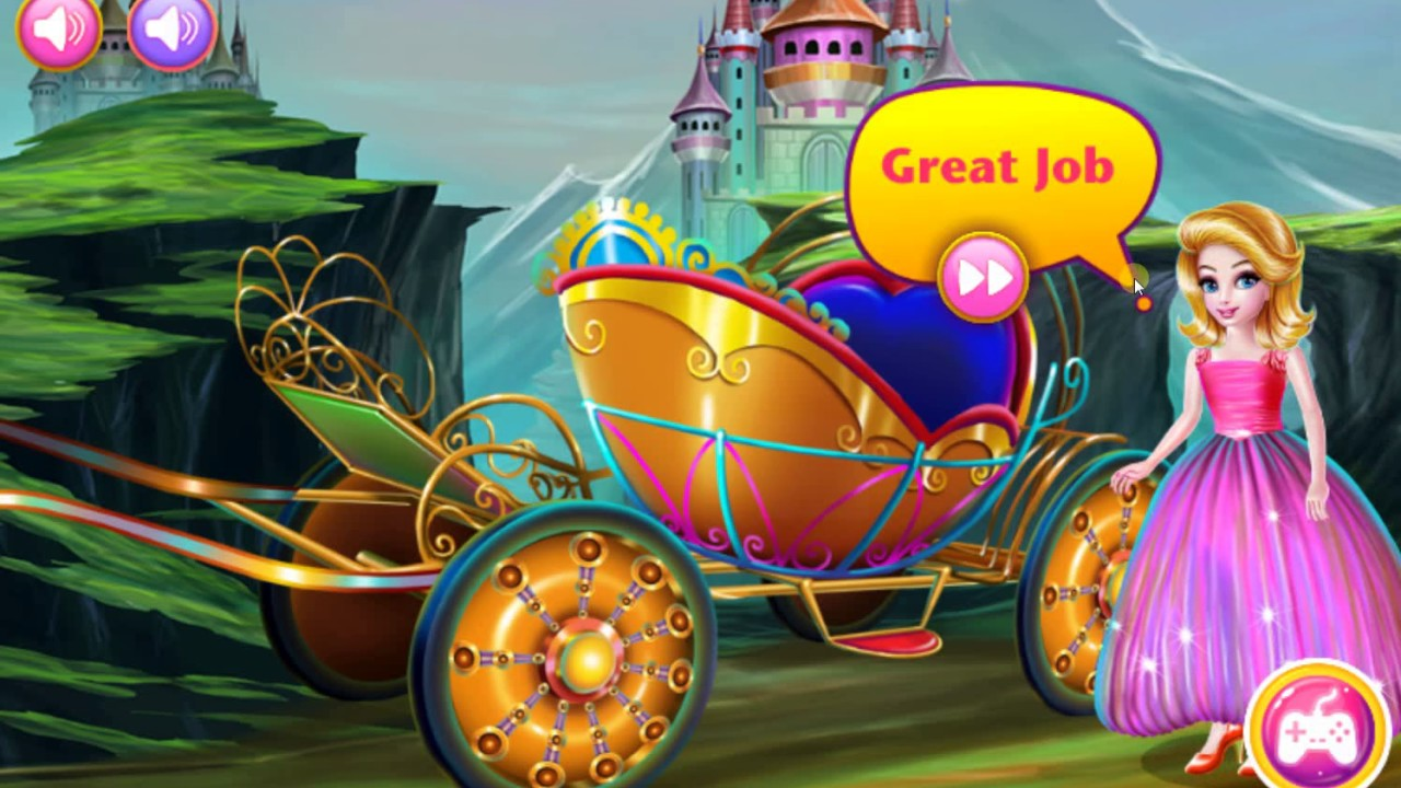 princess games princess carriage car wash car wash games for kids