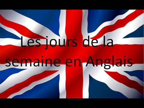 les jours de la semaine en anglais apprendre l 39 anglais youtube. Black Bedroom Furniture Sets. Home Design Ideas