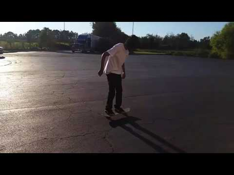 Skateboarding: Pop shove it (slo-mo)