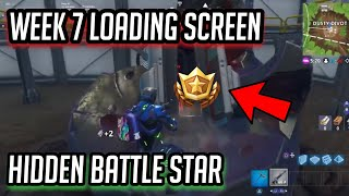 *FREE* Week 7 Hidden Battle Star LOCATION! Blockbuster loading screen-Fortnite: Battle Royale!