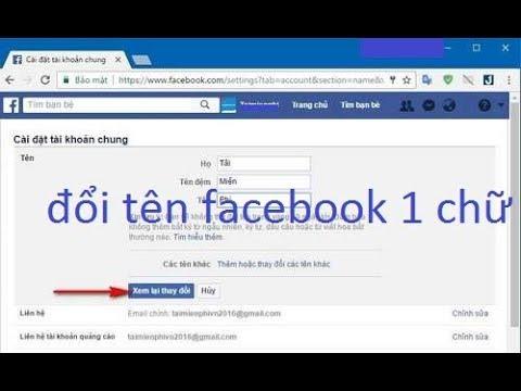 đổi tên facebook 1 chữ . đổi tên facebook trên máy tính