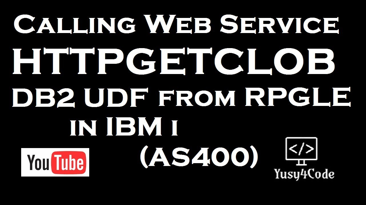 Consuming HTTP GET from RPGLE using HTTPGETCLOB | yusy4code