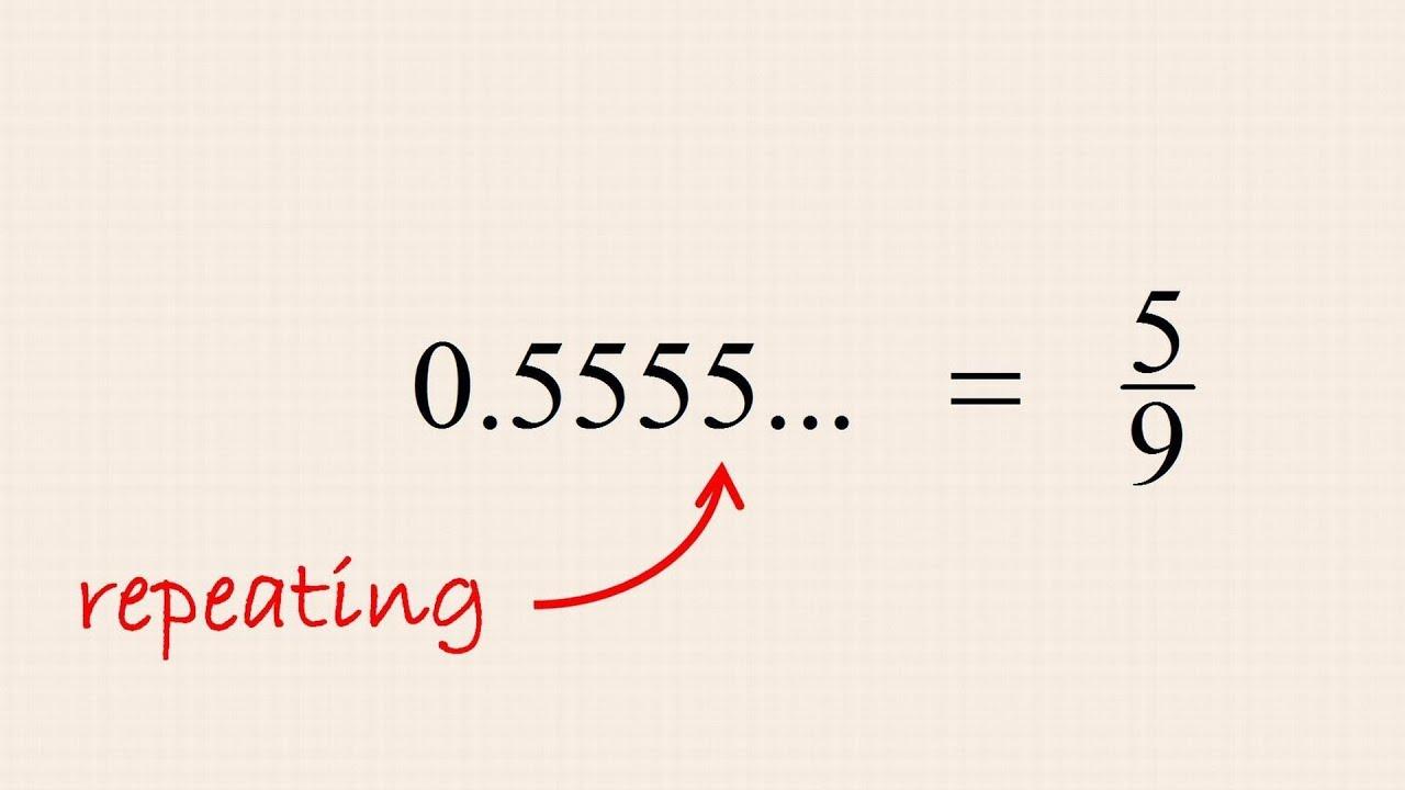 Pre-Algebra 14 - Converting Repeating Decimal Numbers to Fractions