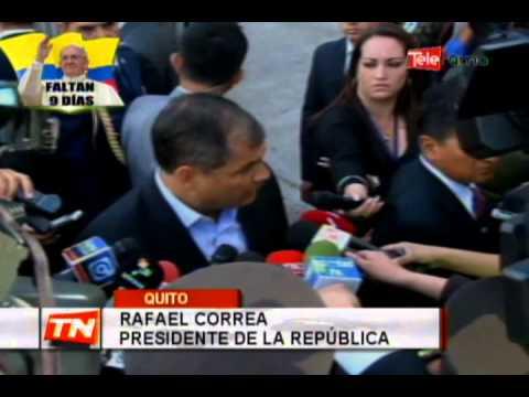 Presidente Correa se pronunció por manifestaciones de ayer