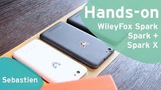 WileyFox Spark, Spark + en Spark X hands-on (Dutch)