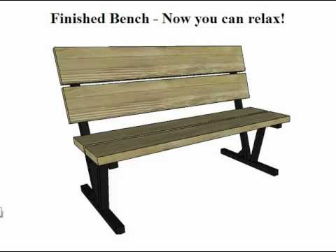 Park Bench Plans - YouTube